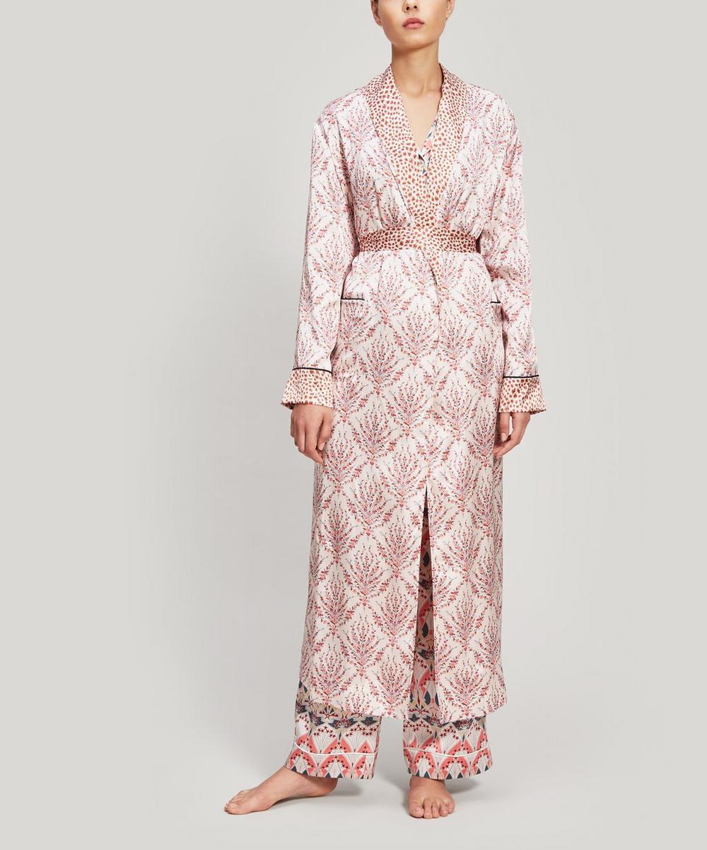 Eluard and Bramham Silk Charmeuse Robe