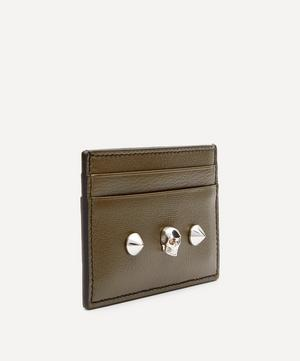 Skull and Stud Leather Card Holder