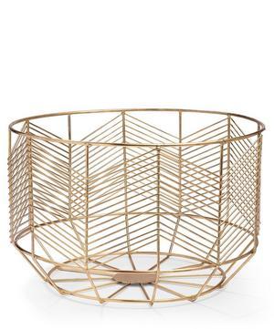 Large Messing Brass Basket