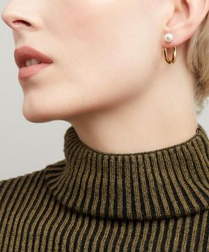 Gold-Plated Elly Pearl Hoop Earring