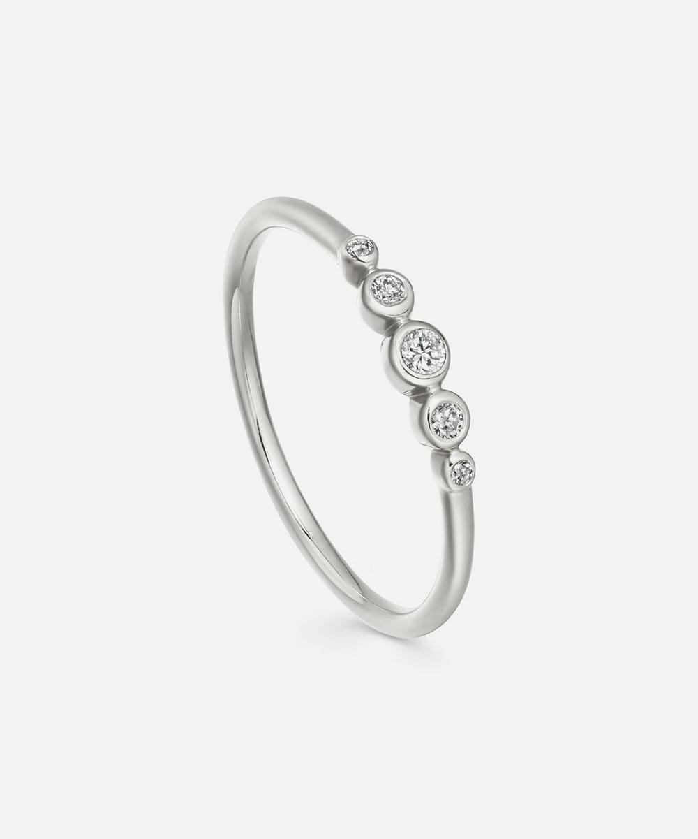 Astley Clarke White Gold Mini Icon Nova Diamond Ring In White, Gold