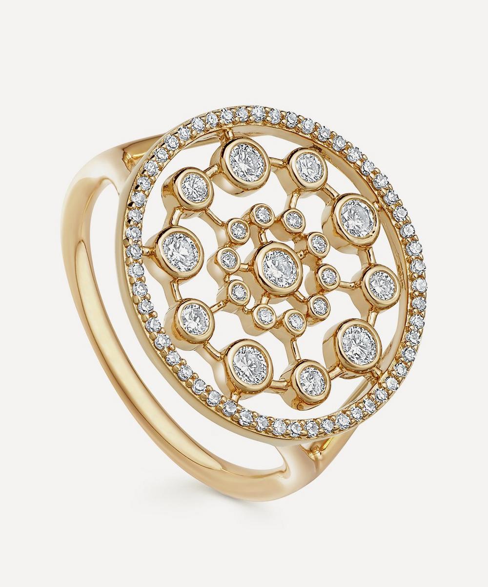 Astley Clarke Gold Large Icon Nova Diamond Ring