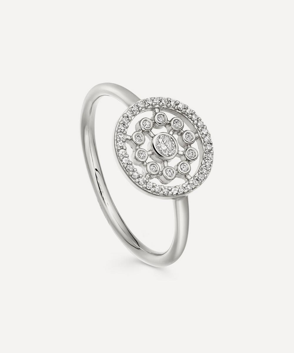 Astley Clarke White Gold Medium Icon Nova Diamond Ring In White, Gold