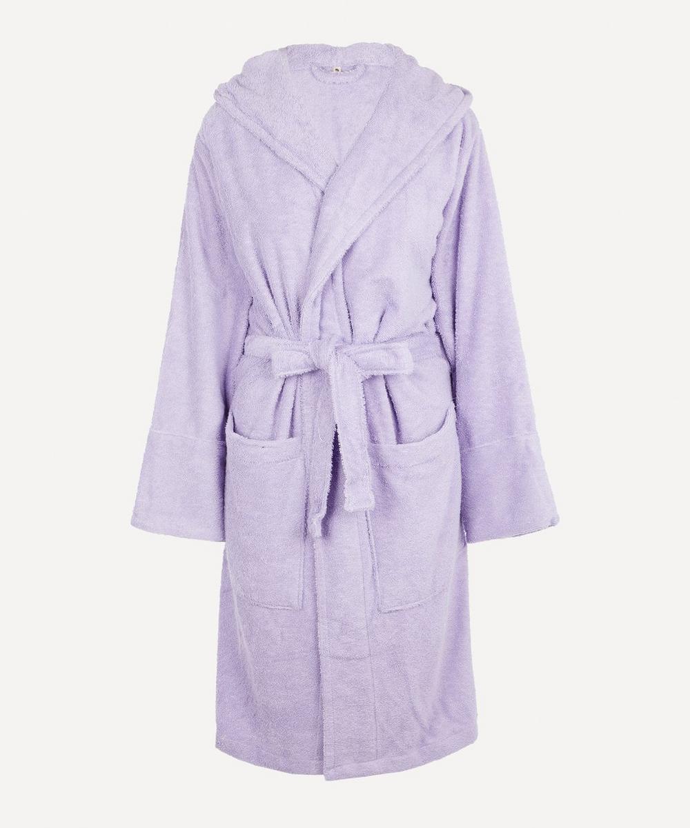 Tekla Small Bathrobe In Lavender