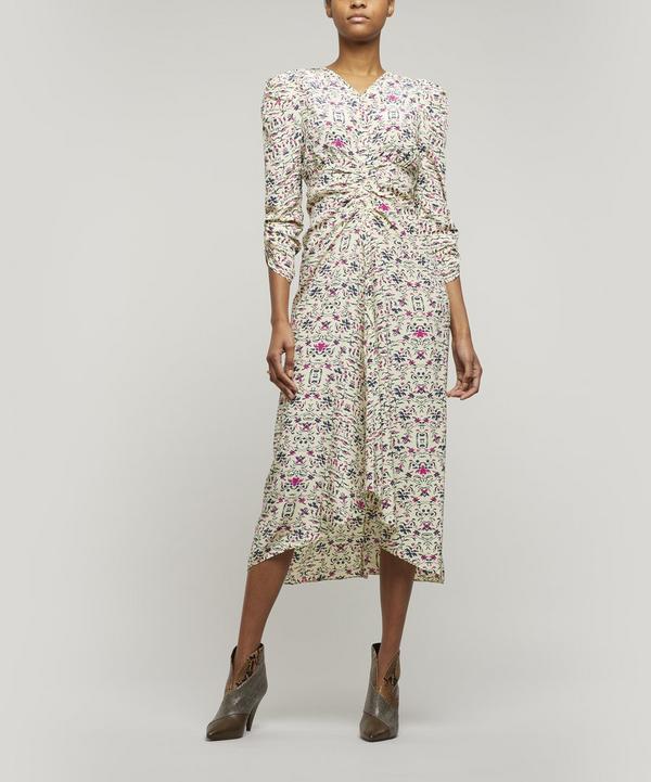 Albi Printed Silk Midi-Dress