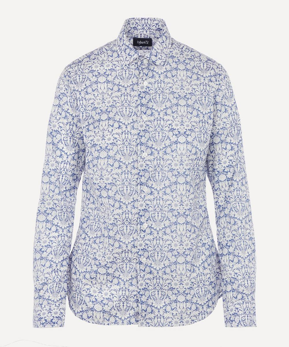 Liberty London Mortimer Classic Shirt In Blue