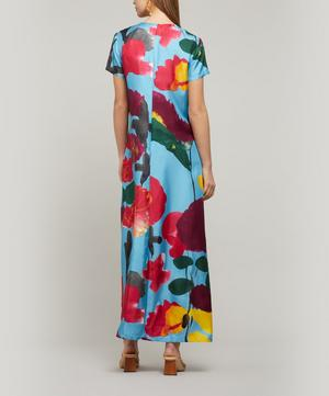 Swing Silk Maxi-Dress