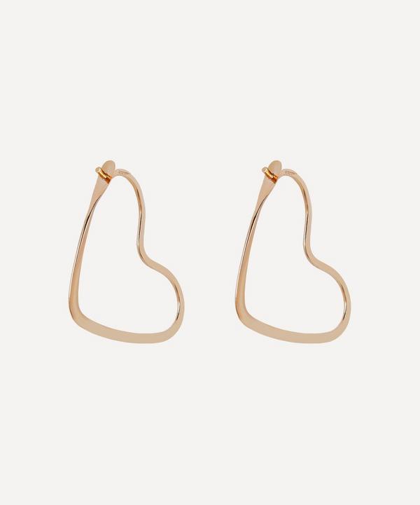 Melissa Joy Manning - Gold Heart Hoop Earrings