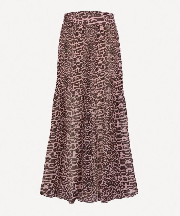 Pleated Georgette Maxi-Skirt