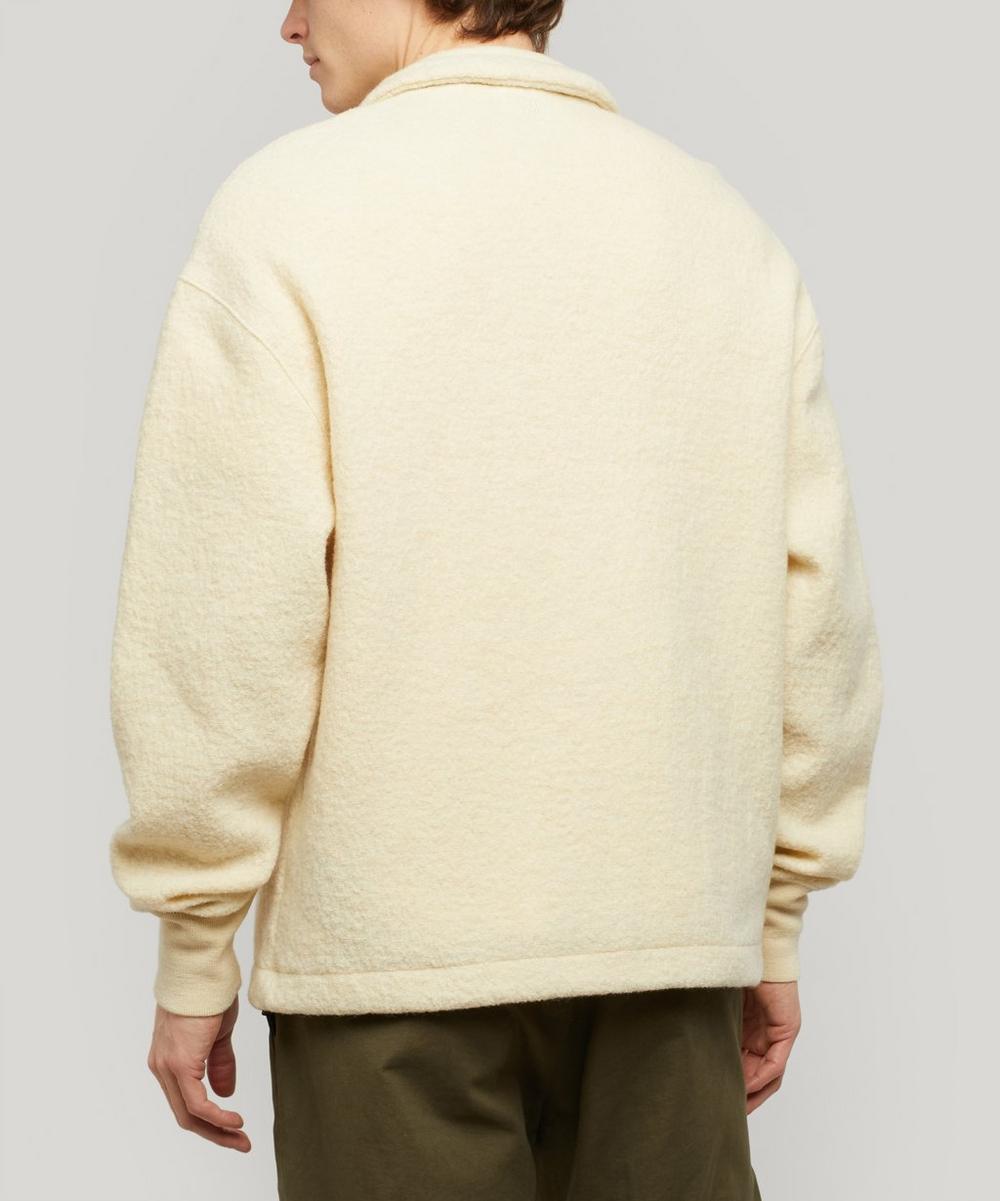 Boiled Wool High Neck Fleece