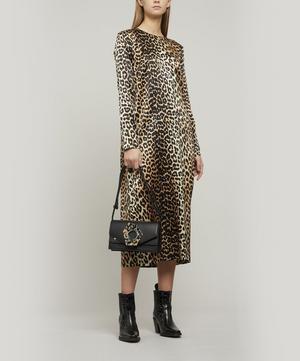 Leopard-print Silk Midi-dress