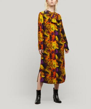 Silk Mix Midi-Dress