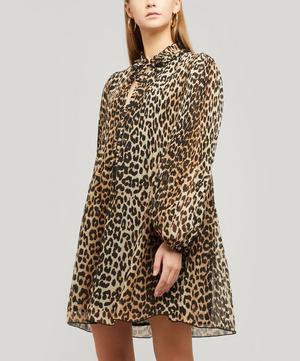 Pleated Georgette Mini-Dress