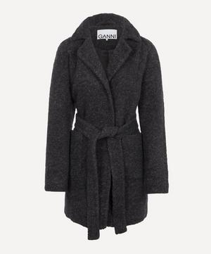 Boucle Wool Belted Coat