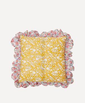 Summer Blooms Scallop Frill Cushion