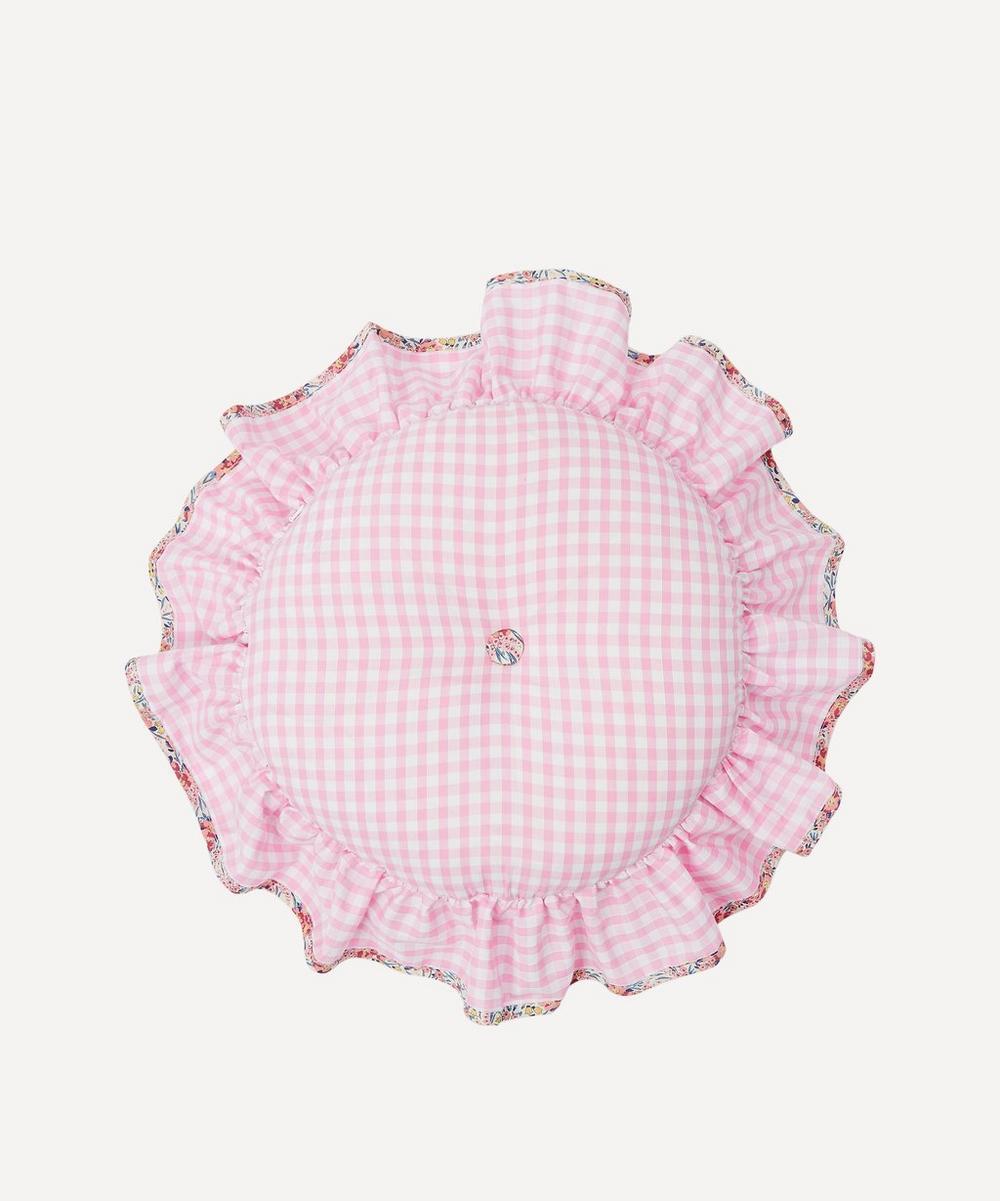 Swirling Petals Liberty Print Circular Cushion