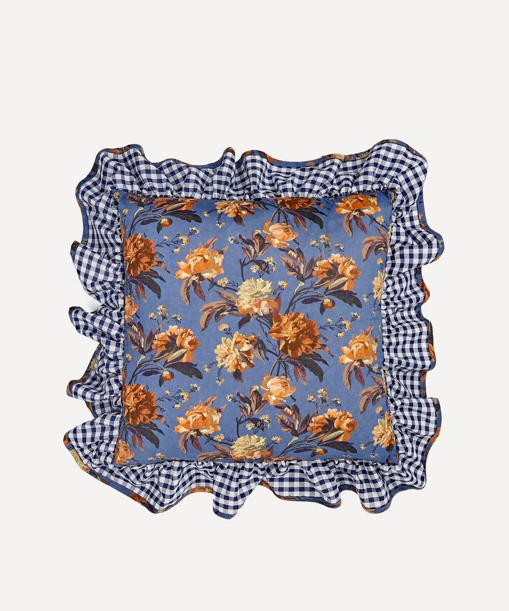 Decadent Blooms Liberty Print Square Cushion