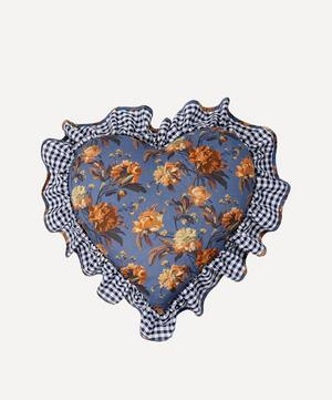 Decadent Blooms Liberty Print Heart Cushion