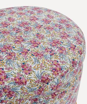 Swirling Petals Print Footstool