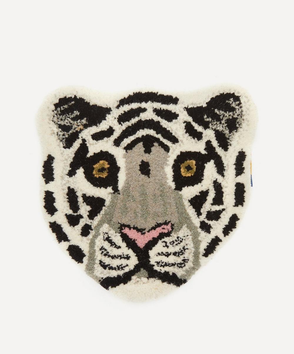 Snowy Tiger Head Rug