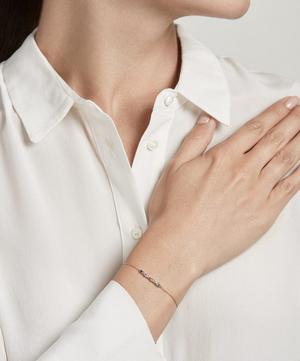 Gold Interstellar Rainbow Sapphire Bracelet
