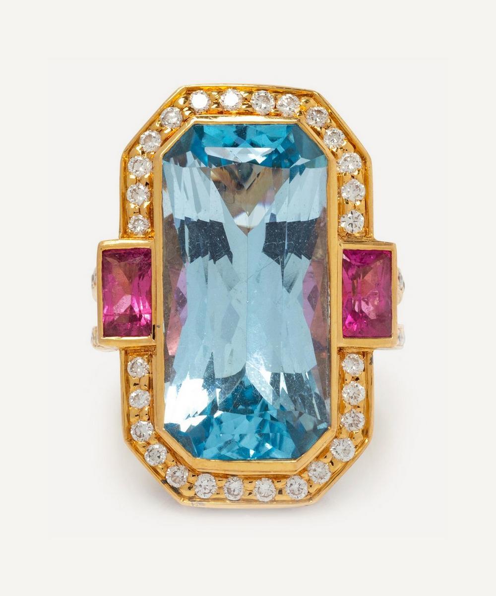 Gold Multi-Stone Dress Ring