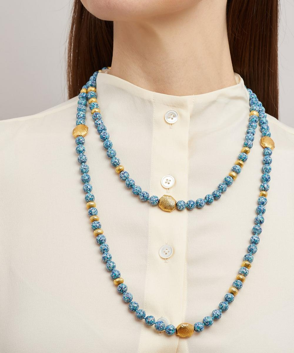 Mosaic Opal Three-Tier Necklace