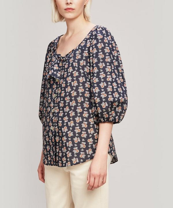 Baillie Tana Lawn™ Cotton Puff Sleeve Blouse