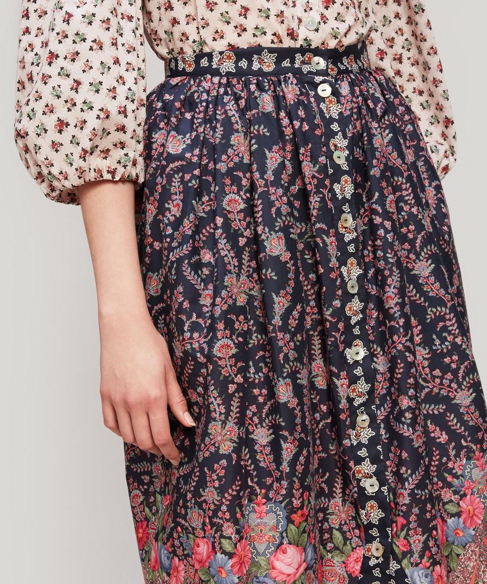 Renee Tana Lawn™ Cotton Button-Up Midi Skirt