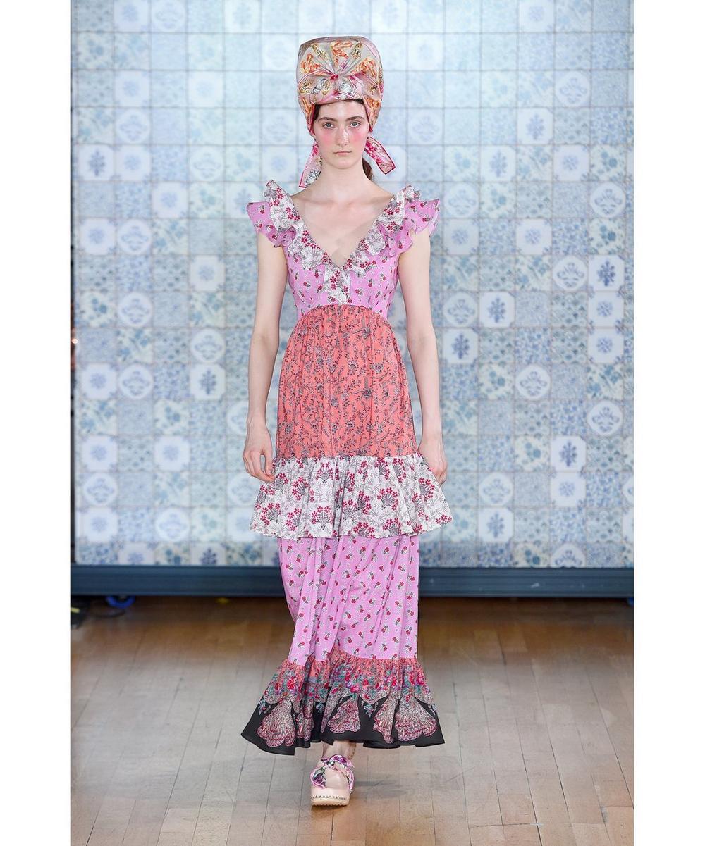Mixed Print Tana Lawn™ Cotton Ruffle Dress