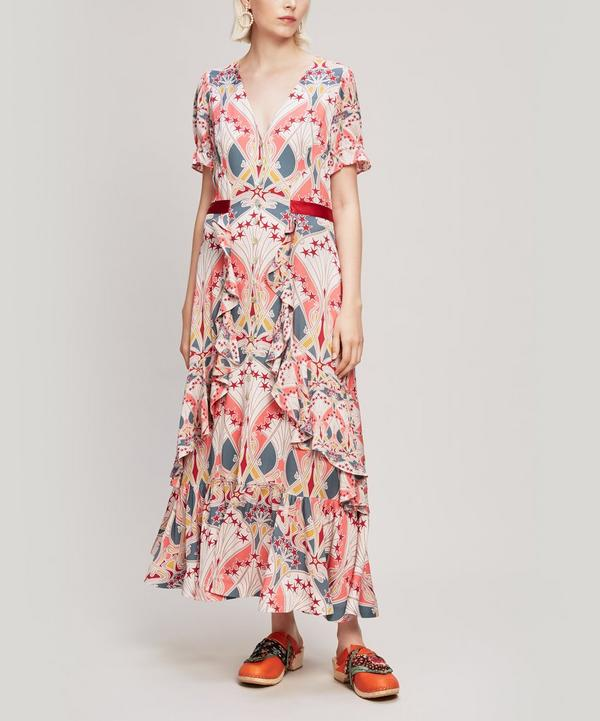 Étoile de Mer Crepe V-Neck Tea Dress
