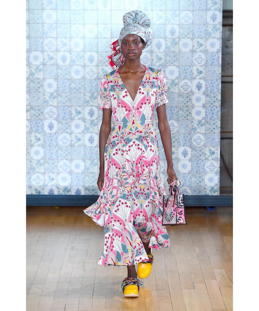 Étoile de Mer Crepe V-Neck Tea Dress