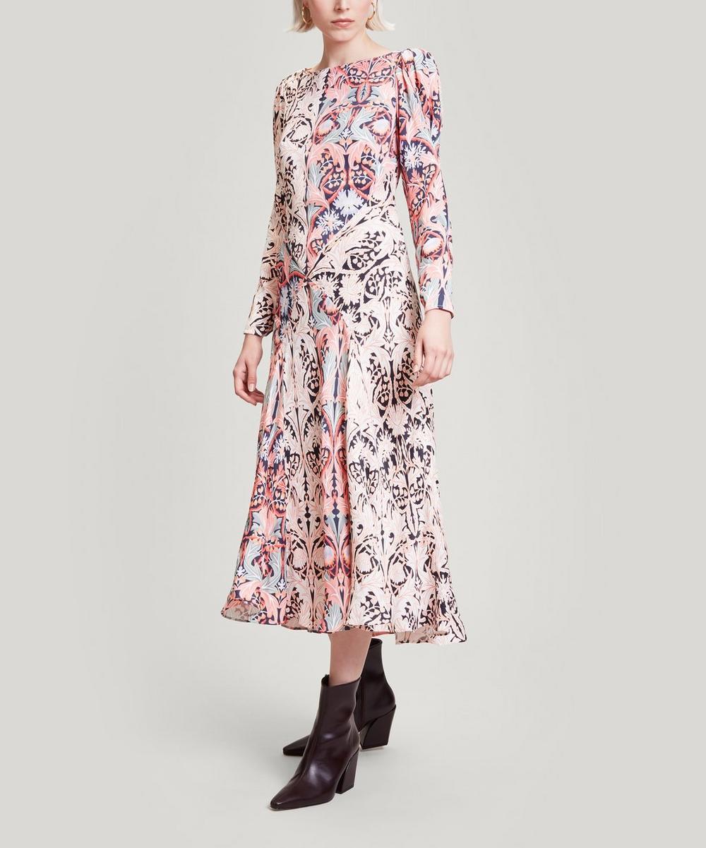 May Crepe Long-Sleeved Dress