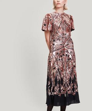 Ianthe Star Sequinned Midi Dress