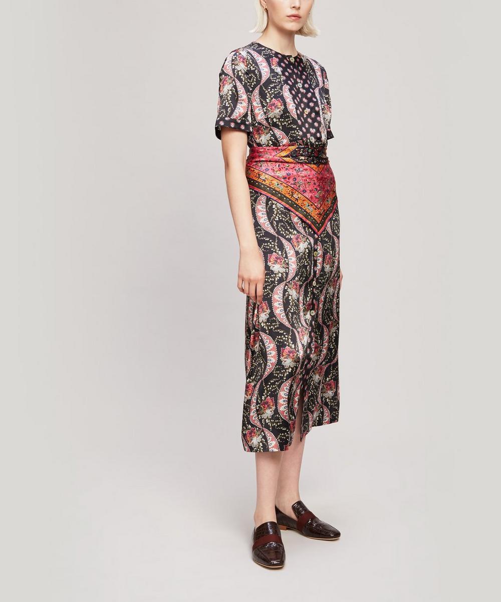 Nocturne Rita Silk Satin Sleeved Dress