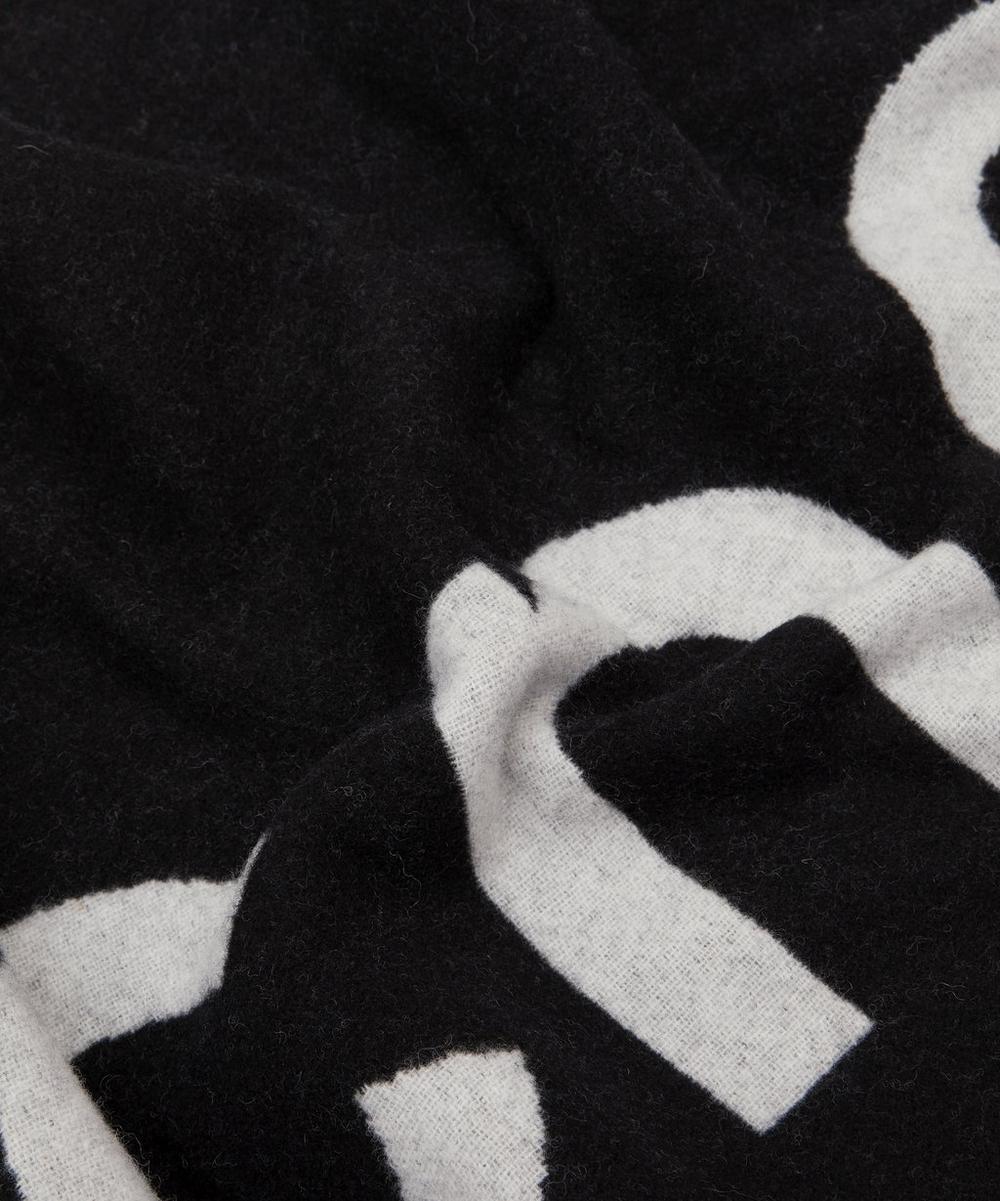 Wool-Blend Logo Jacquard Scarf