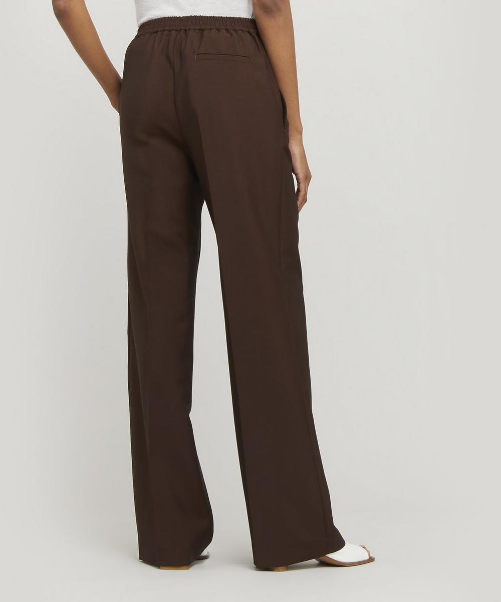 Straight Leg Wool Trousers