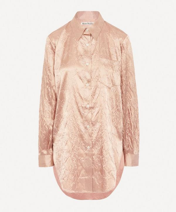 Shiny Floral Embossed Shirt