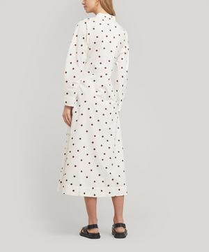 Poplin Polka-Dot Dress