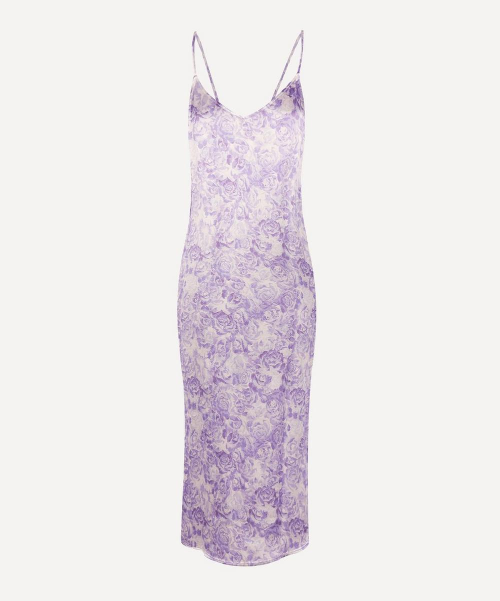 Heavy Satin Printed Slip Dress