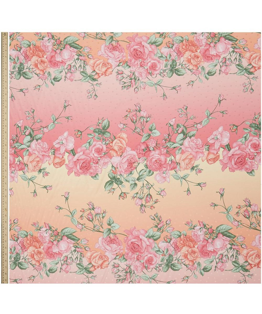 Large Roses Silk Crepe Satin