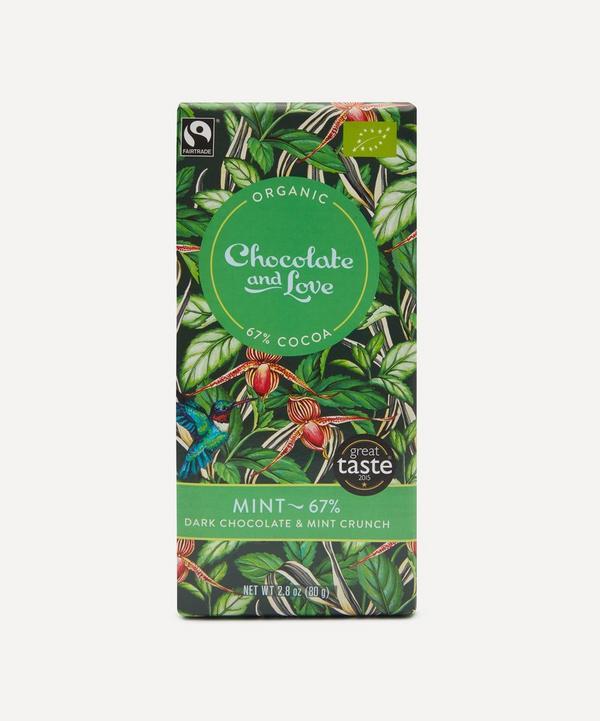 Mint and Peppermint Crunch 67% Dark Chocolate Bar 80g