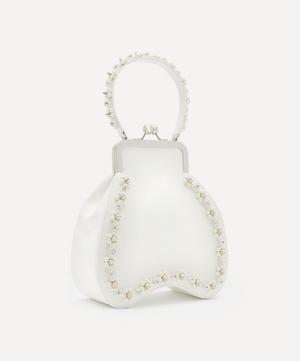 Embellished Bean Flower Leather Handbag