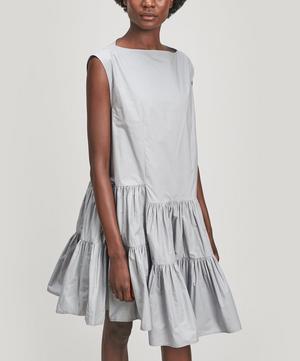 Tiered Poplin Midi-Dress