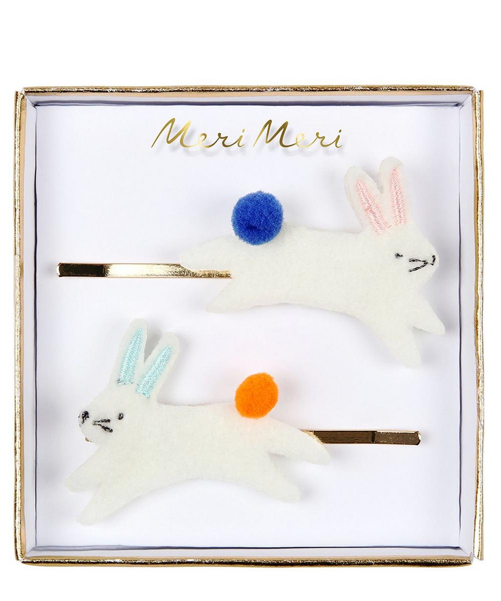 Bunny Hair Slides Set of Two