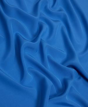Peacock Blue Plain Silk Crepe de Chine