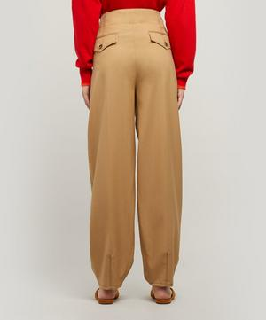 Belted Tapered Virgin Wool Trousers