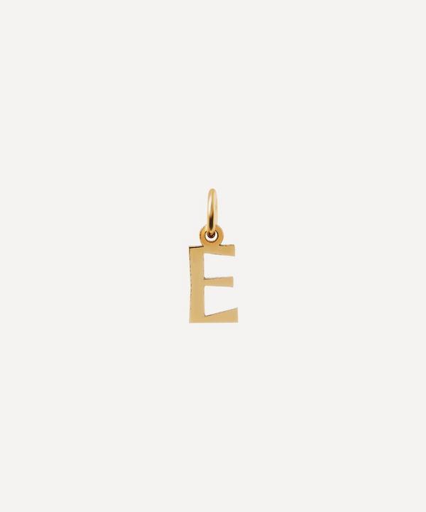 Liberty - 9ct Gold Letter E Alphabet Pendant