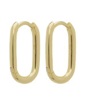 Gold-Plated Chunky Link Hoop Earrings