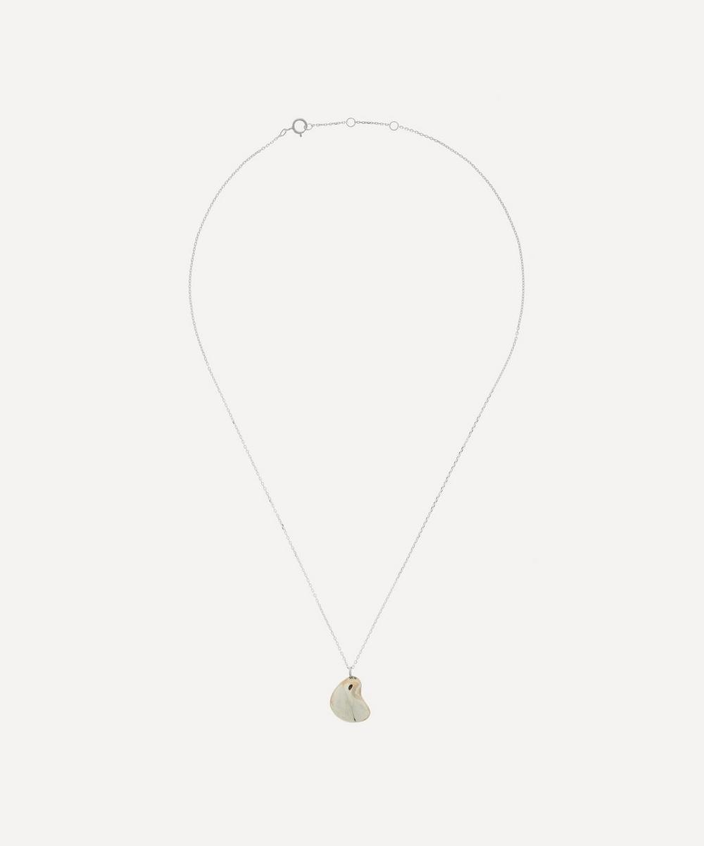 Silver Pebble Pendant Necklace